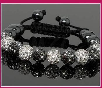 Free Shipping!10mm handmade New Style Disco Ball Beads men BGGH crystal crystal  bracelet . fasion women jewelry  wholesale!
