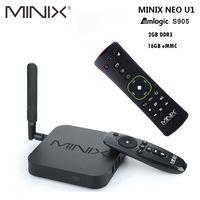 Original MINIX NEO U1 Android TV Box Amlogic S905 Quad Core 2G/16G 802,11/2,4/5 GHz WiFi H.265 HEVC 4 K Ultra HD Smart TV Box