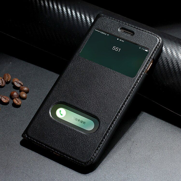 2016 Newest Case for iPhone 7 Genuine Leather Flip Case for iphone 7 plus luxury Ultra Slim Flip Cover 4.7/5.5 holster