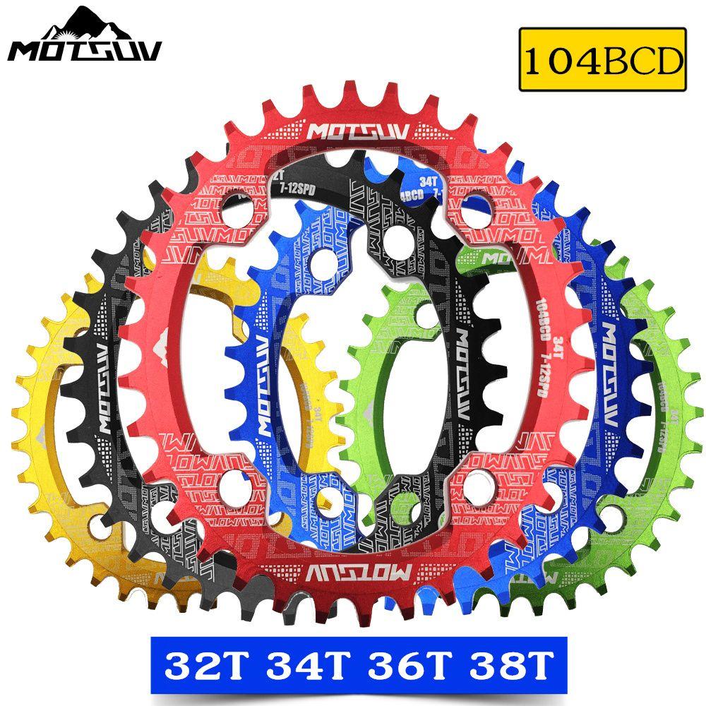MOTSUV ovale étroit large plateau vtt VTT vélo 104BCD 32 T 34 T 36 T 38 T pédalier pièces de plaque dentaire 104 BCD