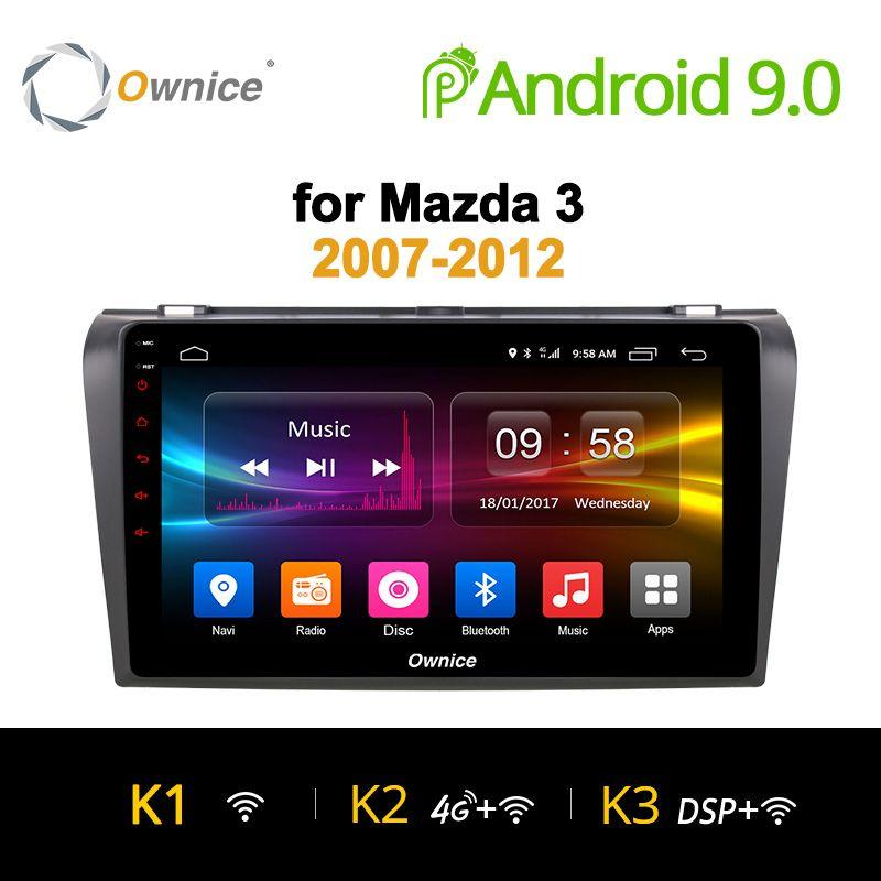 Ownice K1 K2 K3 Octa 8 CORE android 9.0 auto dvd gps-player Für Mazda 3 2007-2012 navigation Unterstützung 4G SIM Karte 2G RAM DAB +