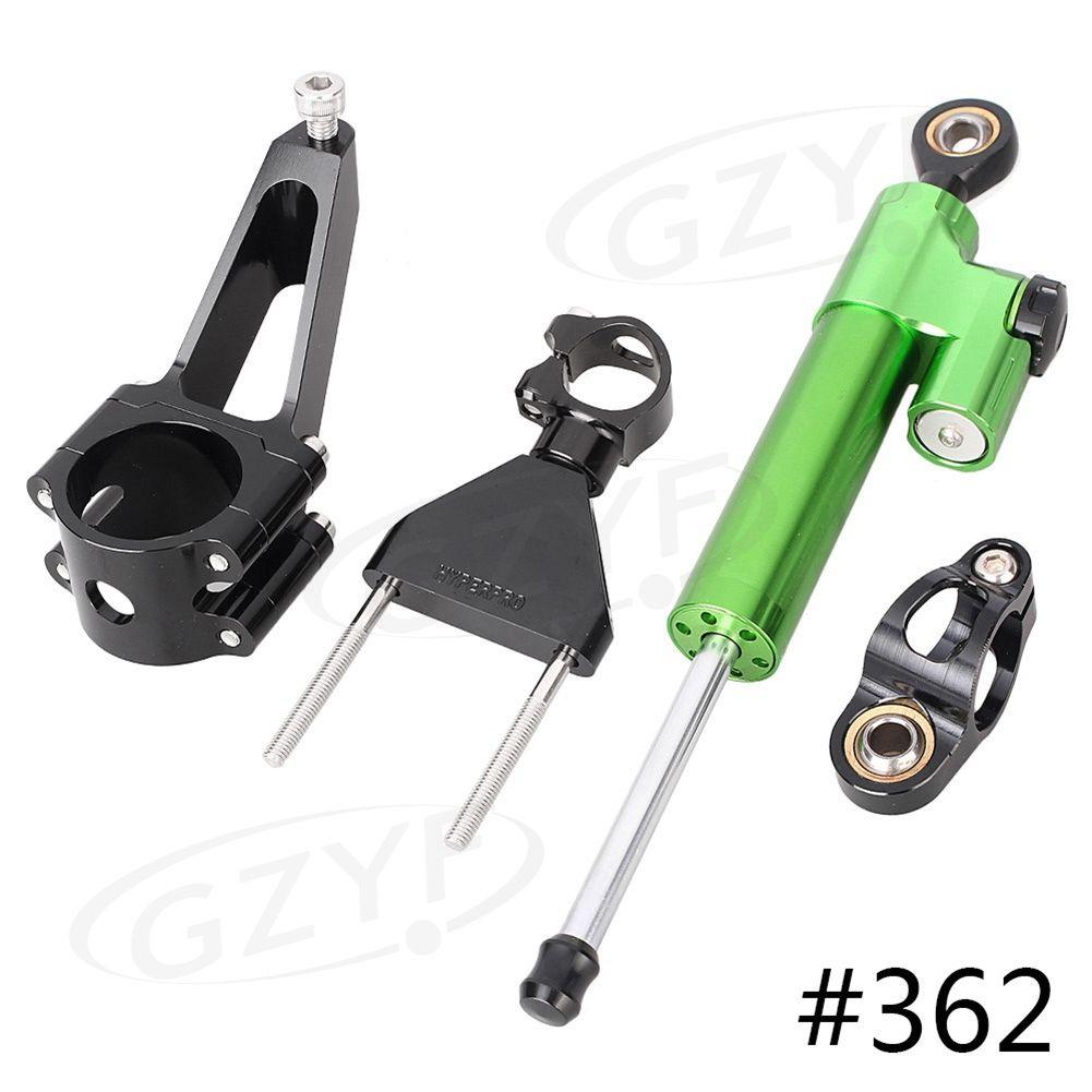 CNC Motorbike Steering Damper Stabilizer Safety Control w/ Mounting Bracket Holder Kit For Honda CBR600F4i CBR600 F4i 2001-2007