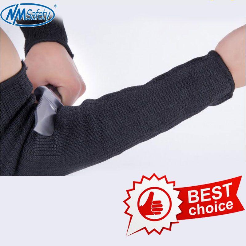 NMSAFETY hommes gants de coupe supérieure auto-défense extérieure bras garde top qualité couteau gant résistant à la coupure gants de sécurité de protection