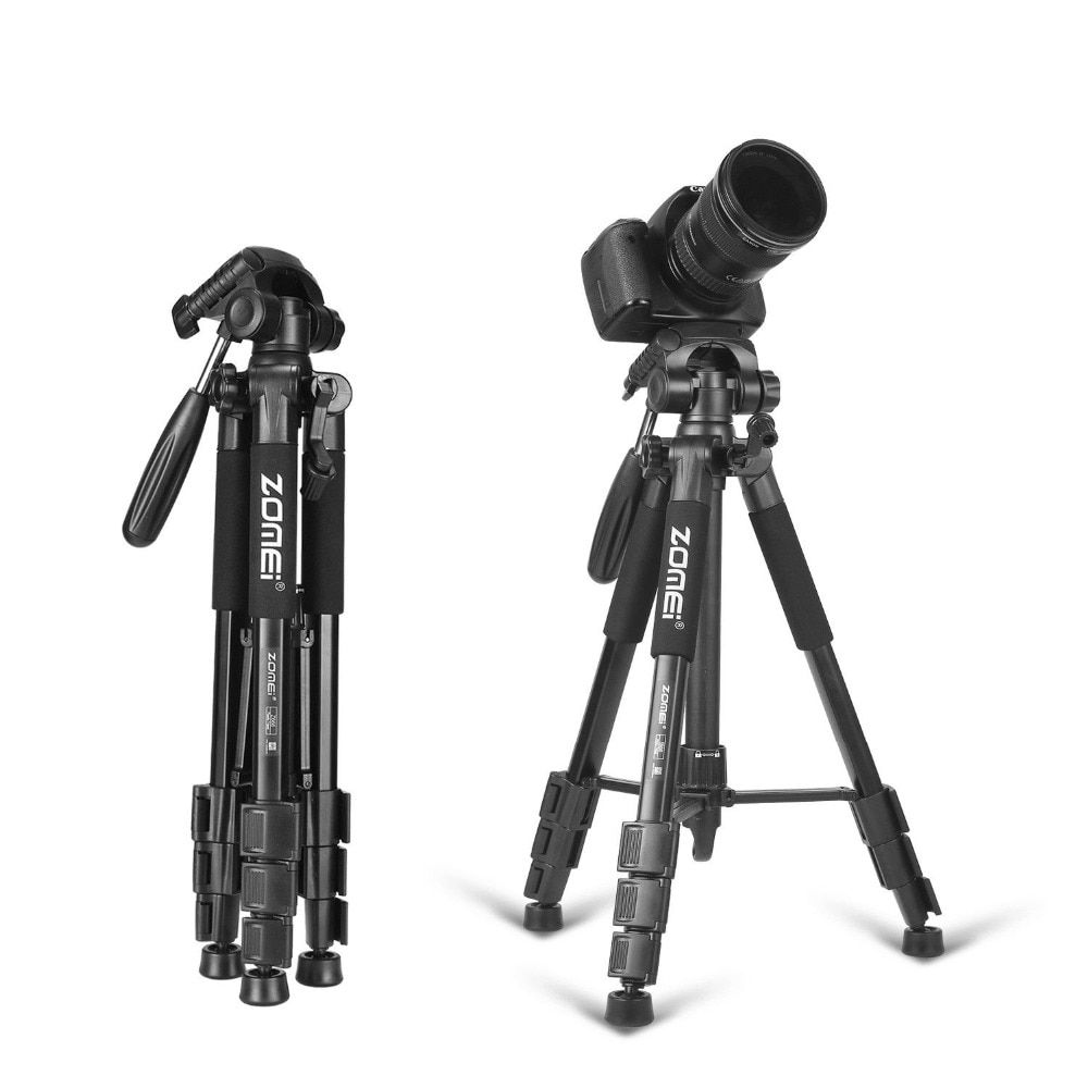 New Zomei Tripod Z666 Professional Portable Travel Aluminium Camera Tripod Accessories Stand with Pan <font><b>Head</b></font> for Canon Dslr Camera