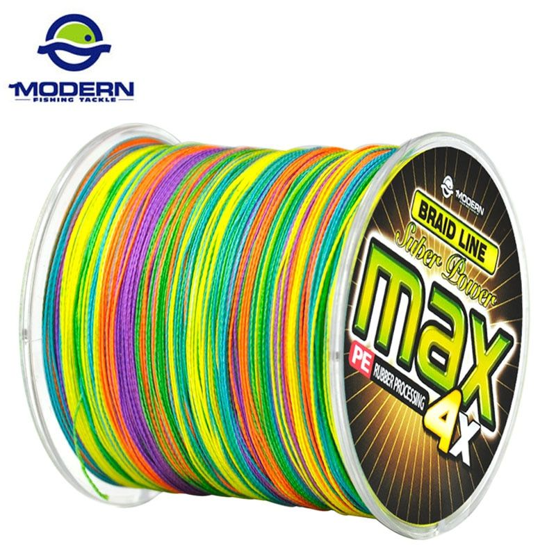 500M MODERN FISHING Brand MAX Series Multicolor 1M 1color Multifilament PE Braided Fishing Line 4 strands braid wires 8 to 90LB