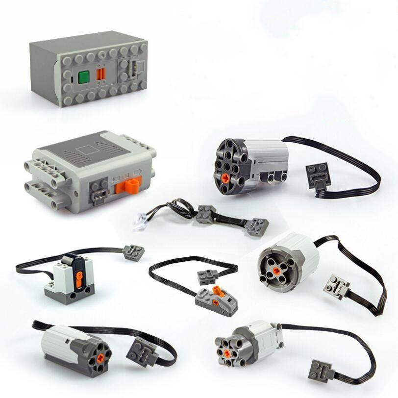 Nouvelle Technique Train Moteur À Distance Récepteur LED Lumière Batterie Power Box Fonctions legoinglys Blocs de Construction Briques Accessoires