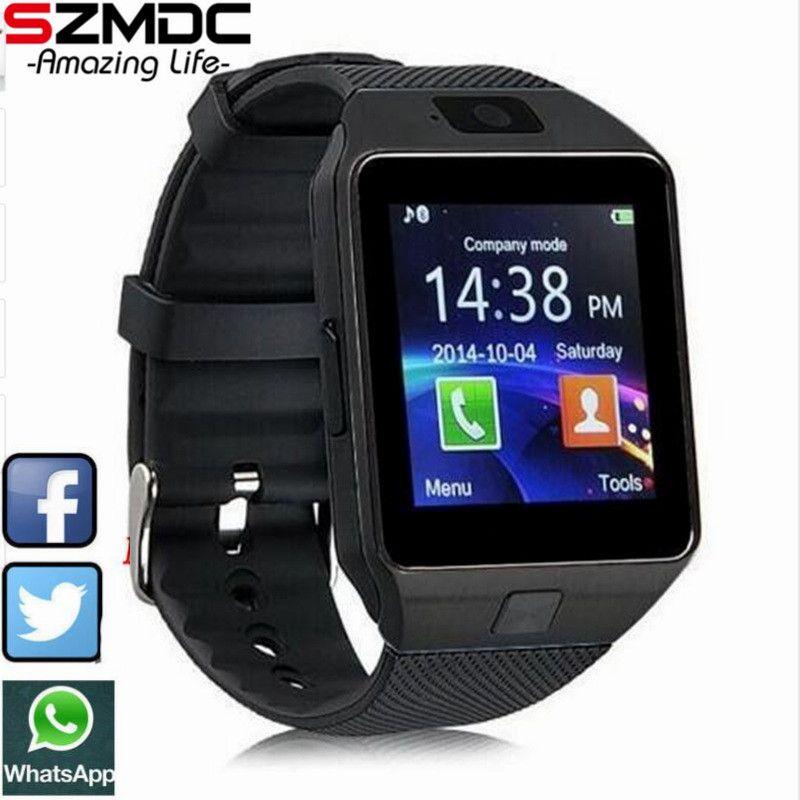 2017 Nouvelle Montre Smart Watch dz09 Avec Caméra Bluetooth Montre-Bracelet Carte SIM Smartwatch Pour Ios Android Téléphones Support Multi langues