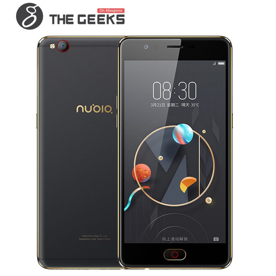 ZTE NUBIA 5.5 inch Cell phone M2 LITE 3GB+64GB ROM / M2 4GB+64GB/4G+128G ROM 2.5D Glass AMOLED FHD Screen Android 4G Smartphone