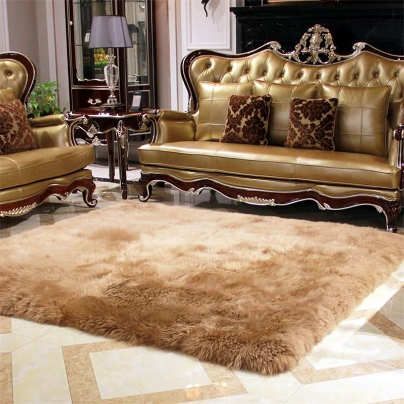 120X170CM Pure Wool Fur Carpets For Living Room Luxury Home Bedroom Rugs And Carpets 5CM Fur Area Rug Coffee Table Floor Mat
