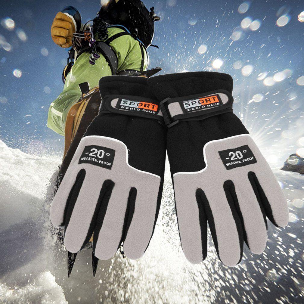 Winter Wärmer Winddicht Vollfinger Männer Frauen Sport Handschuhe Unisex Motorrad-reiten Ski Handschuhe Snowboard Skifahren Handschuhe