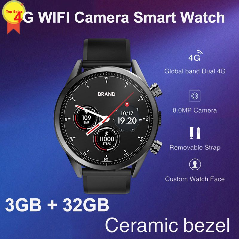 8MP Kamera quad core 3G + 32G 1,39 ''AMoled Smart Uhr Männer sim Karte GPS google karte 4G WIFI business Smartwatch luxus design 2019
