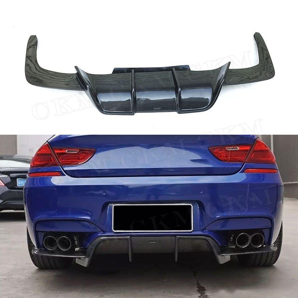 6 serie V Stil Carbon Fiber Hinten Lip Diffusor Spoiler Body Kits für BMW F06 F12 F13 M6 M tech M Sport 2013-2016