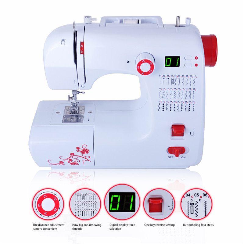 Fanghua Многофункциональная швейная машинка электрическая с функцием оверлок 30 видов стежков мини бытовая швейная машина с цифровом дисплеем ...
