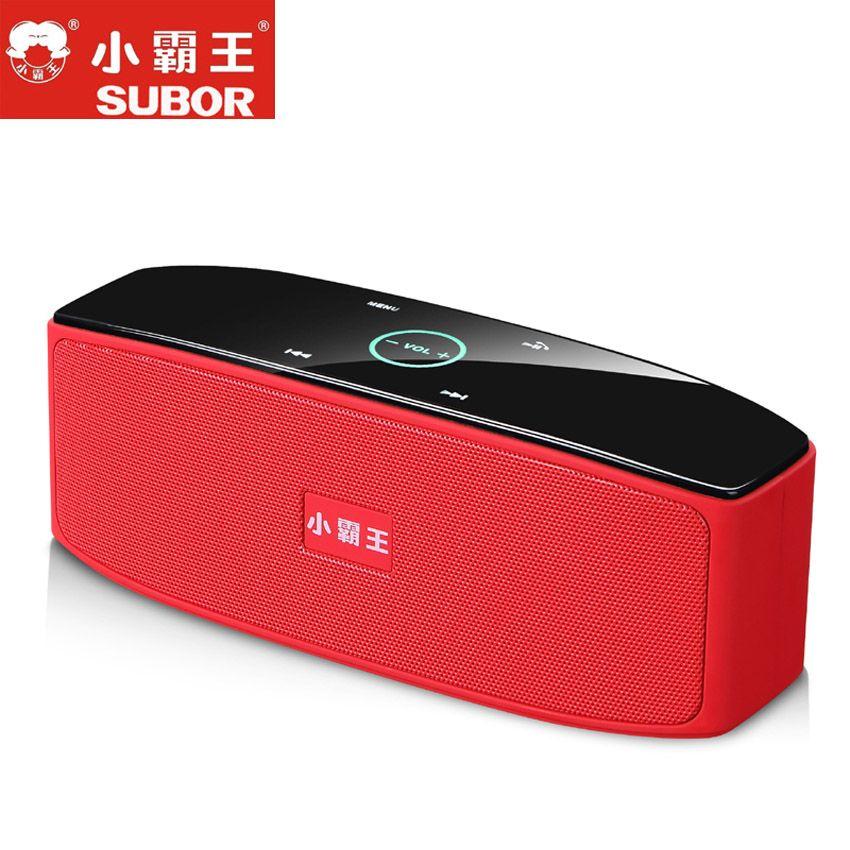 Subor D80 HIFI Touch Control Wireless Stereo HIFI Speaker Bluetooth Handsfree Big Battery Heavy Bass Subwoofer Audio Box