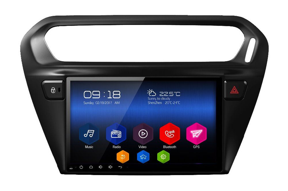 android6.0 car multimedia player headunit audio tape recorder for Citroen C-Elysee Peugeot 301 2013 radio stereo gps navigation