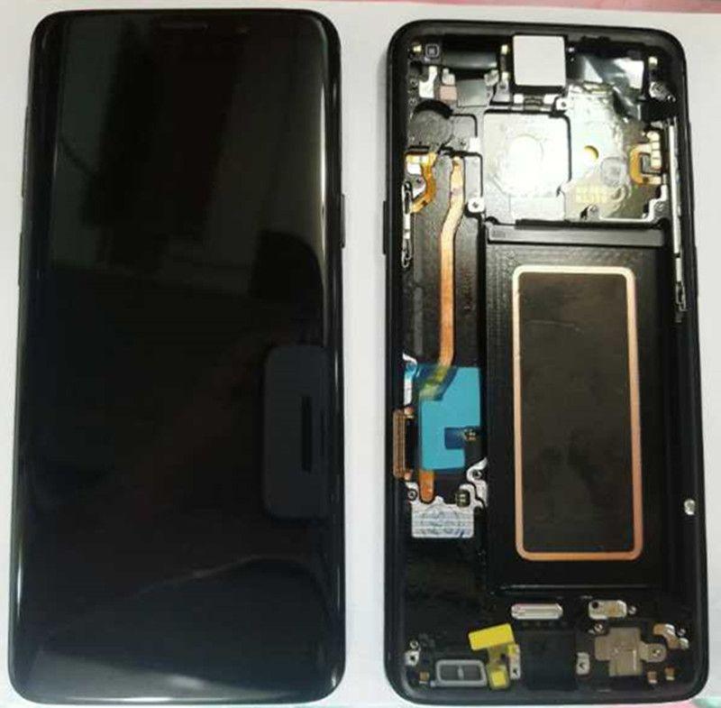 100% Super AMOLED LCD Für Samsung Galaxy S9 G960F G960U G960 S9 Display Touch Screen + Rahmen 5,8