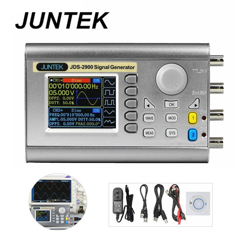 JDS2900-60M DDS Signal Generator Counter 60MHz High Precision Dual-Channel Arbitrary Waveform Function Generator 266MSa/s 40%Off