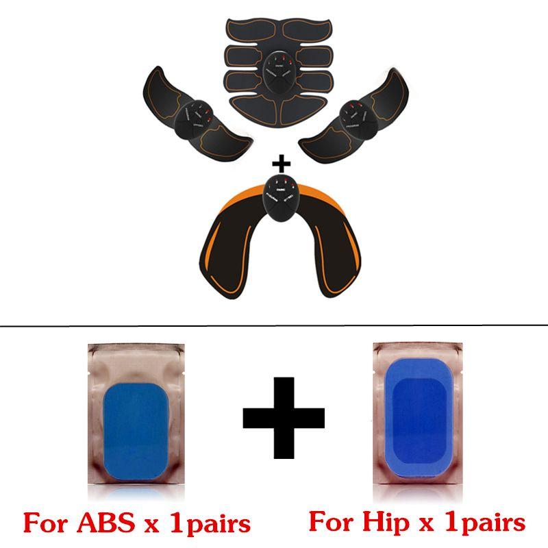 EMS Hanche Formateur Électrique Stimulateur Musculaire Fesses Abdominale ABS Fitness Stimulateur Minceur Masseur avec coussinets de gel de remplacement