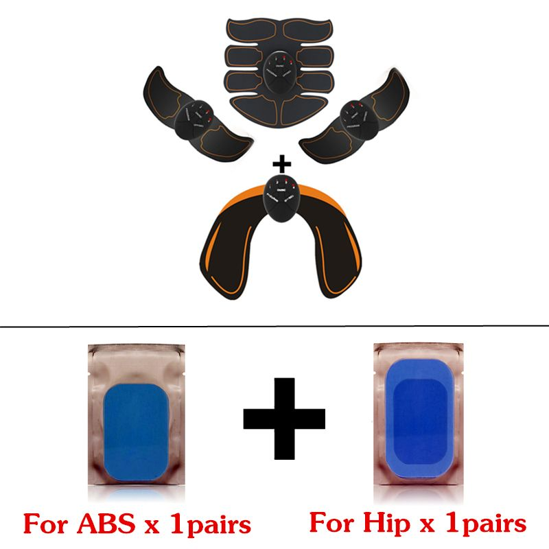 EMS Hip Trainer Electric Muscle Stimulator Buttocks Abdominal ABS Stimulator Fitness Slimming Massager with replacement gel pads