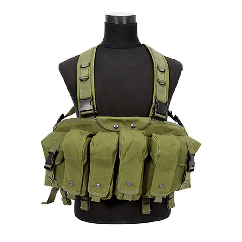 Camouflage Taktische Weste Airsoft Ammo Brust Rig AK 47 Magazin Träger Kampf Taktische Militärische Neue Stil