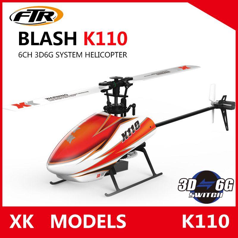 JJRC XK K110 Blash 6CH Brushless 3D6G System radio control RC Helicopter RTF remote control toy VS Wltoys V977
