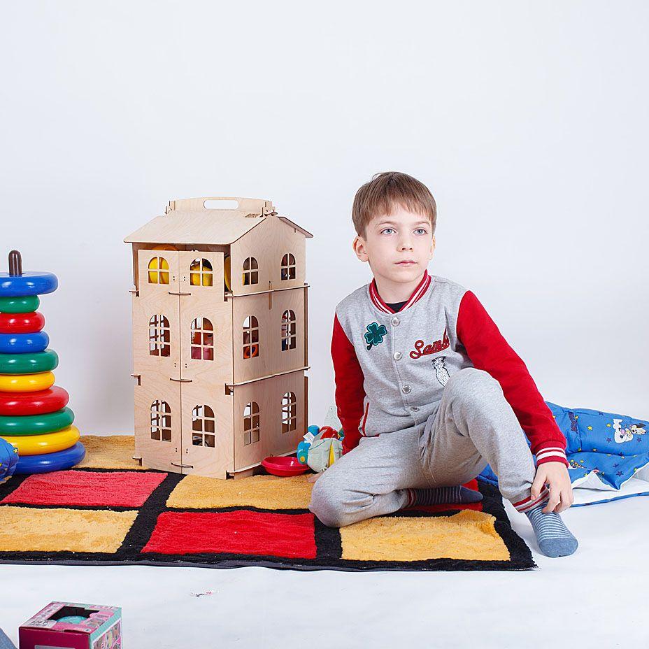 Puppen Hause Spielzeug haus Neue Jahr Geschenke Diy Puppe Haus Miniatur Holz puppe zubehör block teil puzzle Modell Brithday Geschenk DFM-3d