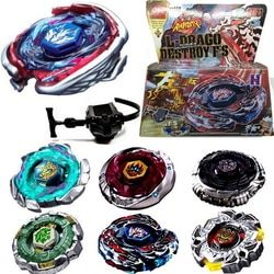 1 Set Fusion Top Rapidité Lutte Métal Maître Beyblade 4D Lanceur Grip Set Collection Toupie Aléatoire de Haute Qualité