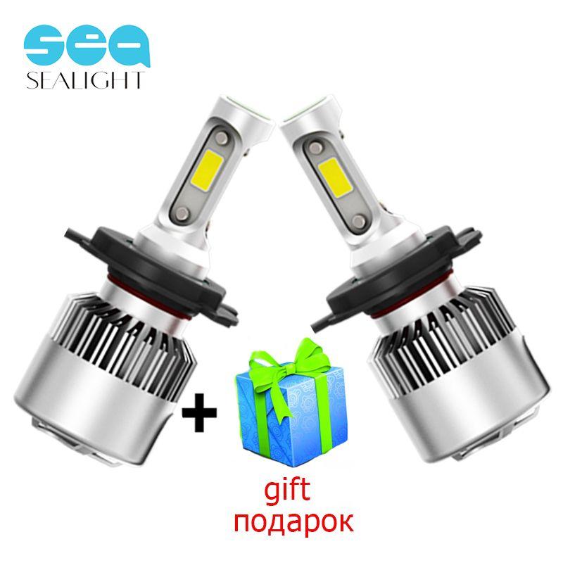 Sealight H7 LED H4 LED H11 H8 H9 H1 9006 HB4 свет фар автомобиля лампы УДАРА авто лампы 6500 К 12 В 72 Вт 8000LM Высокая ближнего света фар