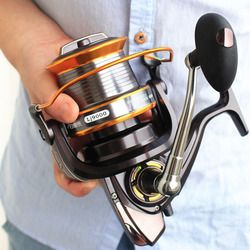FDDL 5000-9000 Ukuran 12 + 1 Ball Bearing Trolling Besar Memancing Logam Reel Memancing Ikan Mas Gulungan Pengumpan Molinete Reel Shimano