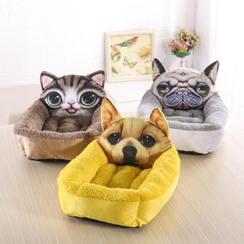 Собака кровать потепления собака дом мягкий мультфильм щенок котенок кошка гнездо Дом Диван Питомник корзина Коврики pad
