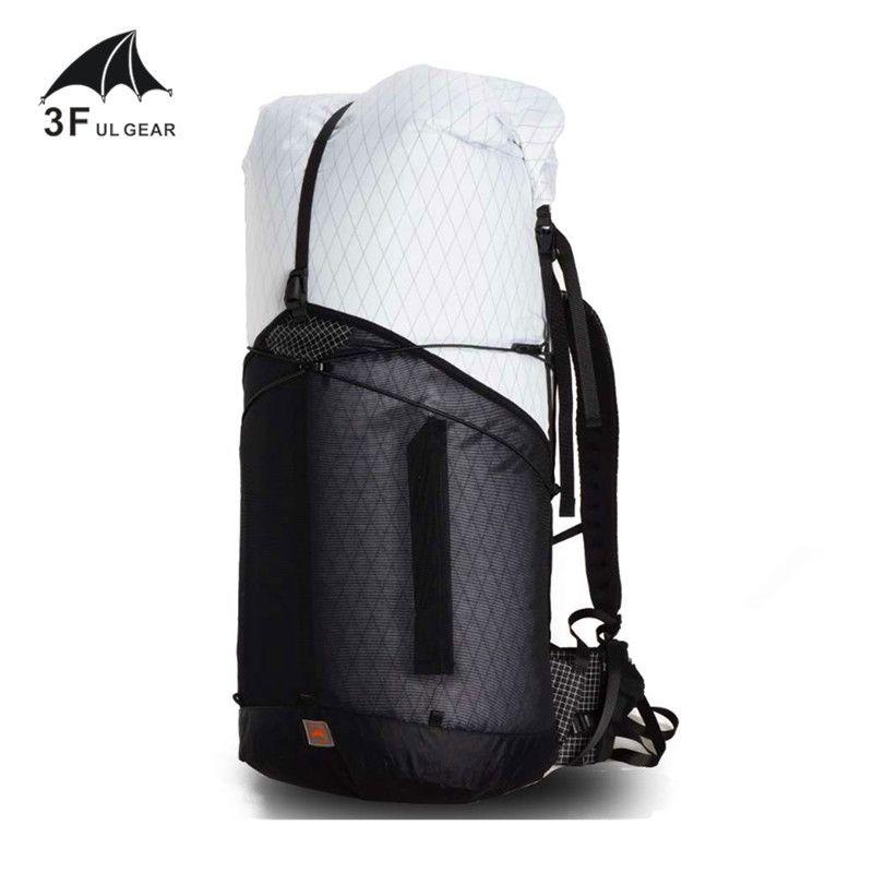 3F UL GETRIEBE 55L Große XPAC Klettern Rucksack Im Freien Ultraleicht Rahmen Weniger Packs Taschen Leichte Durable Reisen Camping Wandern
