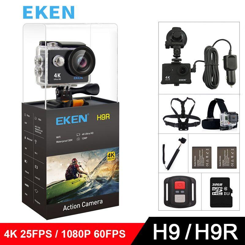 EKEN H9 H9R Original Action camera Ultra HD 4K 25fps 1080P 60fps WiFi 2.0