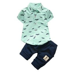 BibiCola Bébé Garçon Vêtements Ensembles Bebe Mode T-shirt + Pantalons Solides Ensemble D'été Enfant Outfit Enfant Enfants Coton survêtement Vêtements
