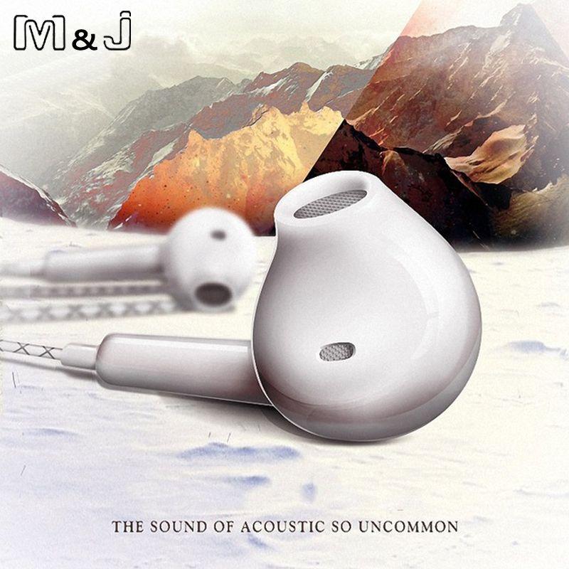 M & J mit Mic supper bass Kopfhörer in-ear-typ headset kopfhörer Für iPhone Xiaomi SAMSUNG GALAXY S3 S4 Hinweis 2 S7 N7100 mp3