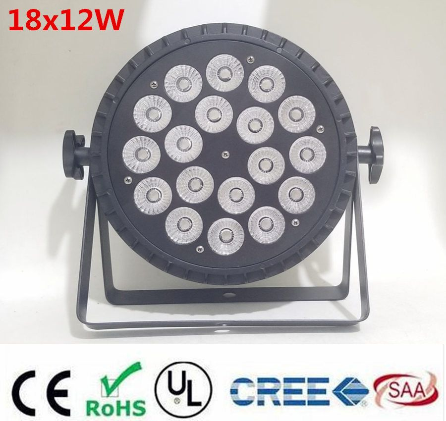 NEW aluminum die casting 18x12W RGBW 4in1 led par wash par led LED Flat Par Can 18x12W Lighting for Party KTV Disco DJ Lamp