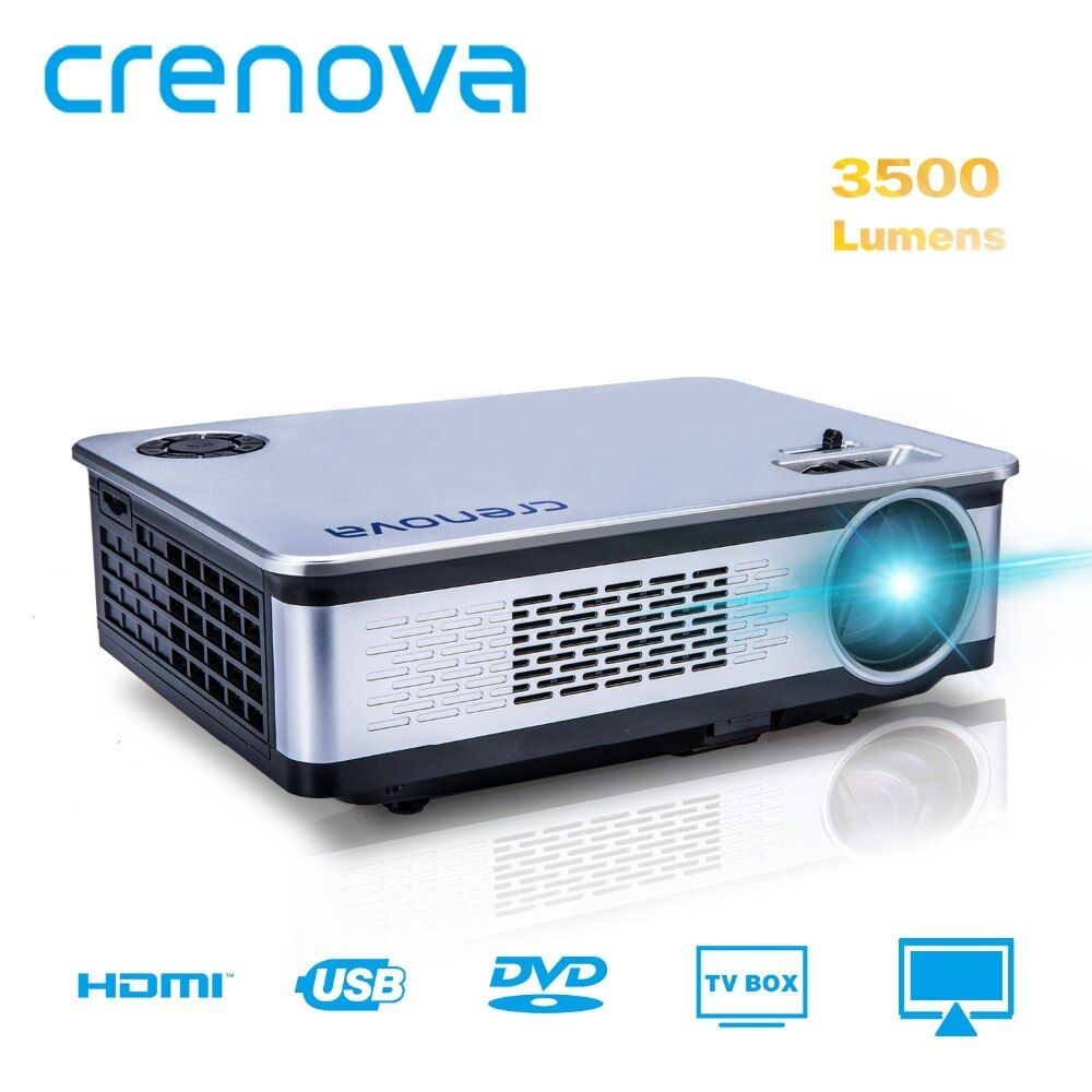 CRENOVA A76 Video Projector For Full HD 1920*1080P Home Theater Projectors 3500 Lumens With HDMI VGA AV USB LCD Beamer