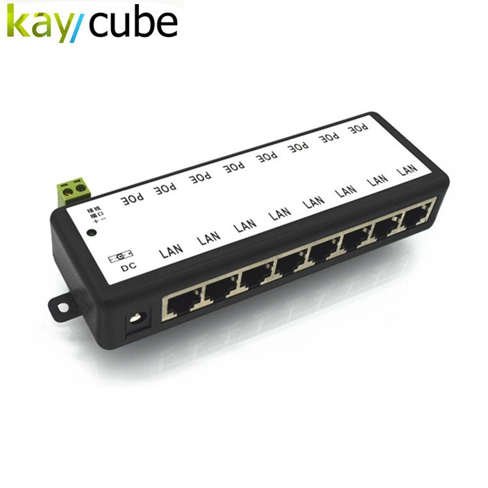 12 В-48 В 8-канальный видеонаблюдения Инжектор PoE для наблюдения IP Камера S Мощность через Ethernet-адаптер с корпуса CCTV Камера аксессуар