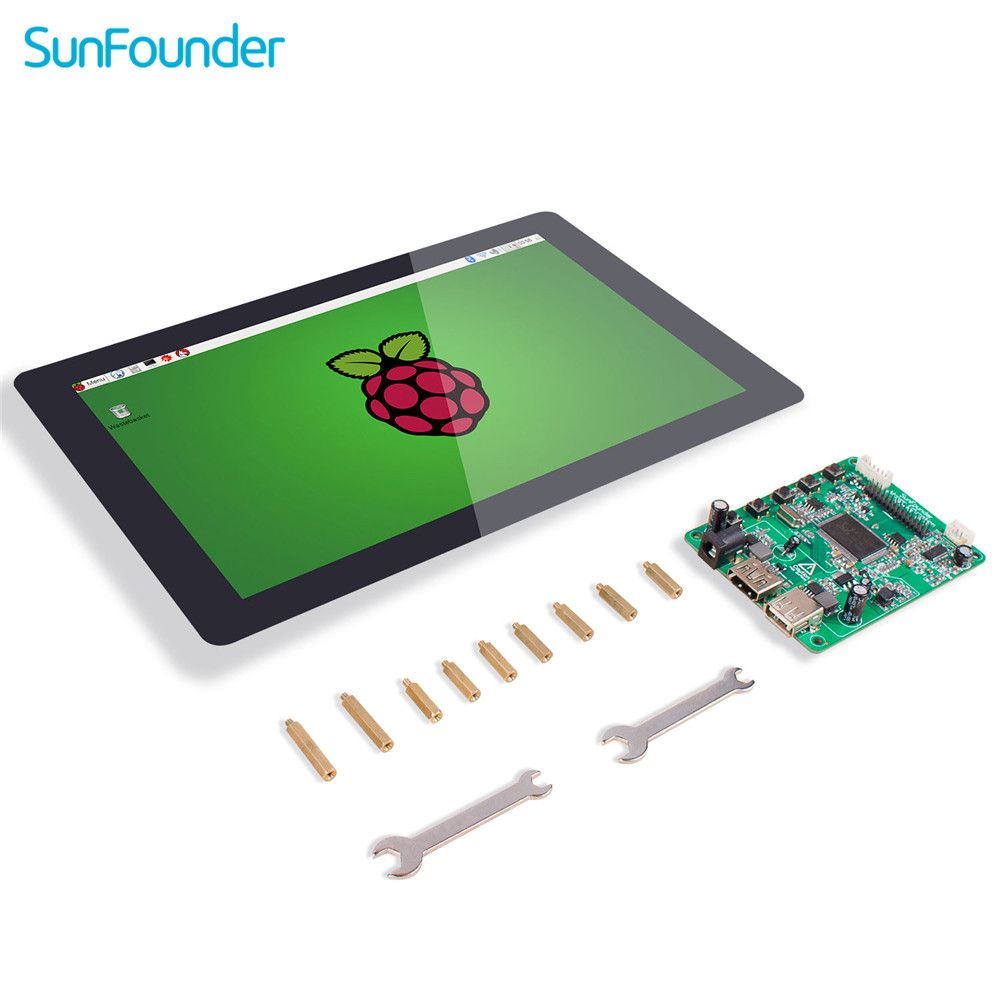 SunFounder 10.1 IPS LCD Touch Screen Display Monitor HDMI 1280*800 for Raspberry Pi 3B+ 3B 2B LattePanda Beagle Bone