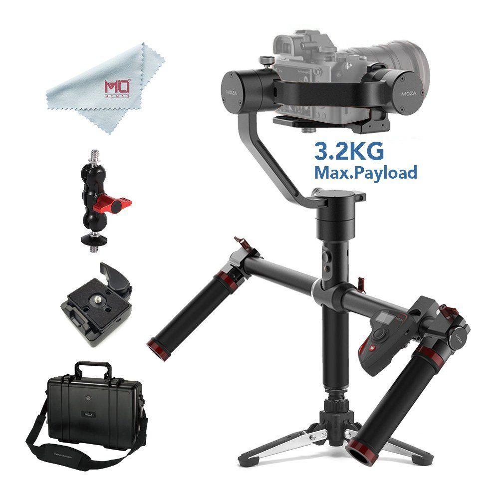 MOZA Luft 3-Achse Handheld Gimbal Stabilisator für DSLR und Spiegellose Kameras Max Last 3,2 kg Sony Canon mit dual Griff & Remote