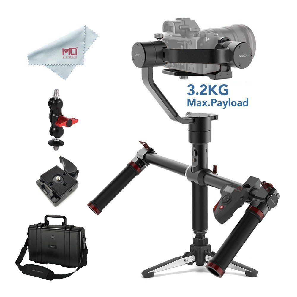 MOZA Air 3-Axis Handheld Gimbal Stabilizer for DSLR and Mirrorless Cameras Max Load 3.2 kg Sony Canon with Dual Handle & Remote