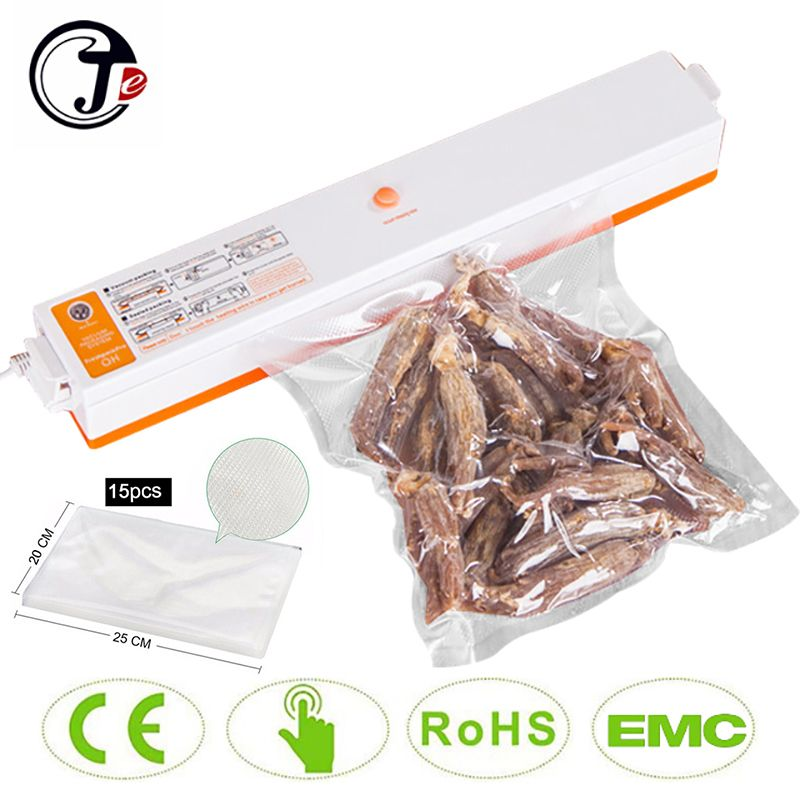 Livraison rapide 220 V/110 V automatique électrique alimentaire scelleur sous vide Portable ménage sous vide Machine à emballer avec cadeau gratuit 15 sacs