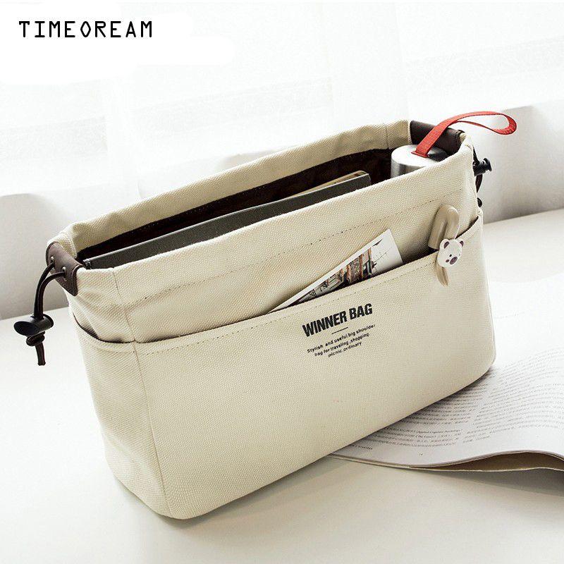 Waterproof Canvas Wallet Organizer Bag Organizer Insert & Compartment Makeup Organizer Handbag Organizador Trousse Maquillage