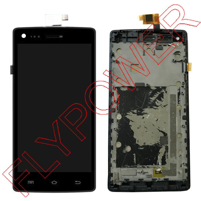 For THL W11 LCD display + Touch Screen Digitizer + Frame Assembly black by free shipping;100% Warranty