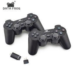 Data Frog Dual 2,4g controlador inalámbrico para teléfono inteligente Android Joystick Gamepad para Android TV Box para PC