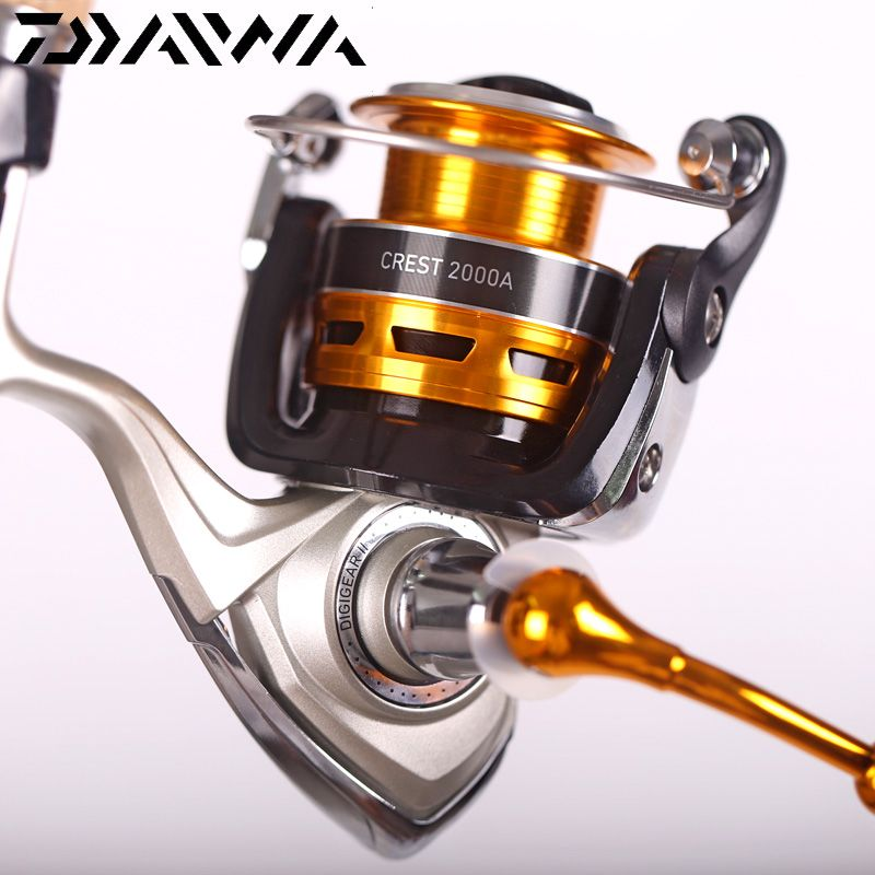 100% Original Daiwa 2018 New CREST 2000A 2500A 3000A 4000A Spinning Fishing Reel 5.3:1 3+1BB Front Drag Carp Fishing reel