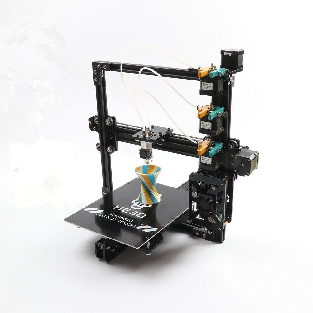 HE3D die Neueste EI3 triple große druck größe 3 in 1 heraus extruder 3D drucker kit mit 2 rollen filament + 8 GB sd-karte als geschenk