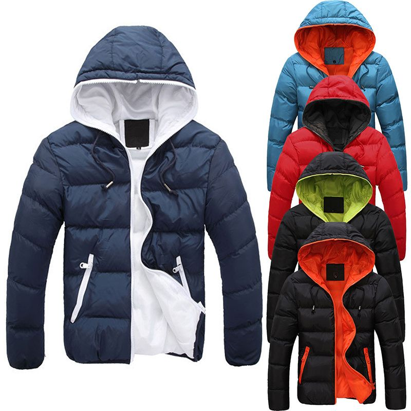 2017 New Fashion Men's Winter Warm Jacket Hooded Slim Casual Coat Cotton-padded Jacket Parka Overcoat Hoodie Thick Coat