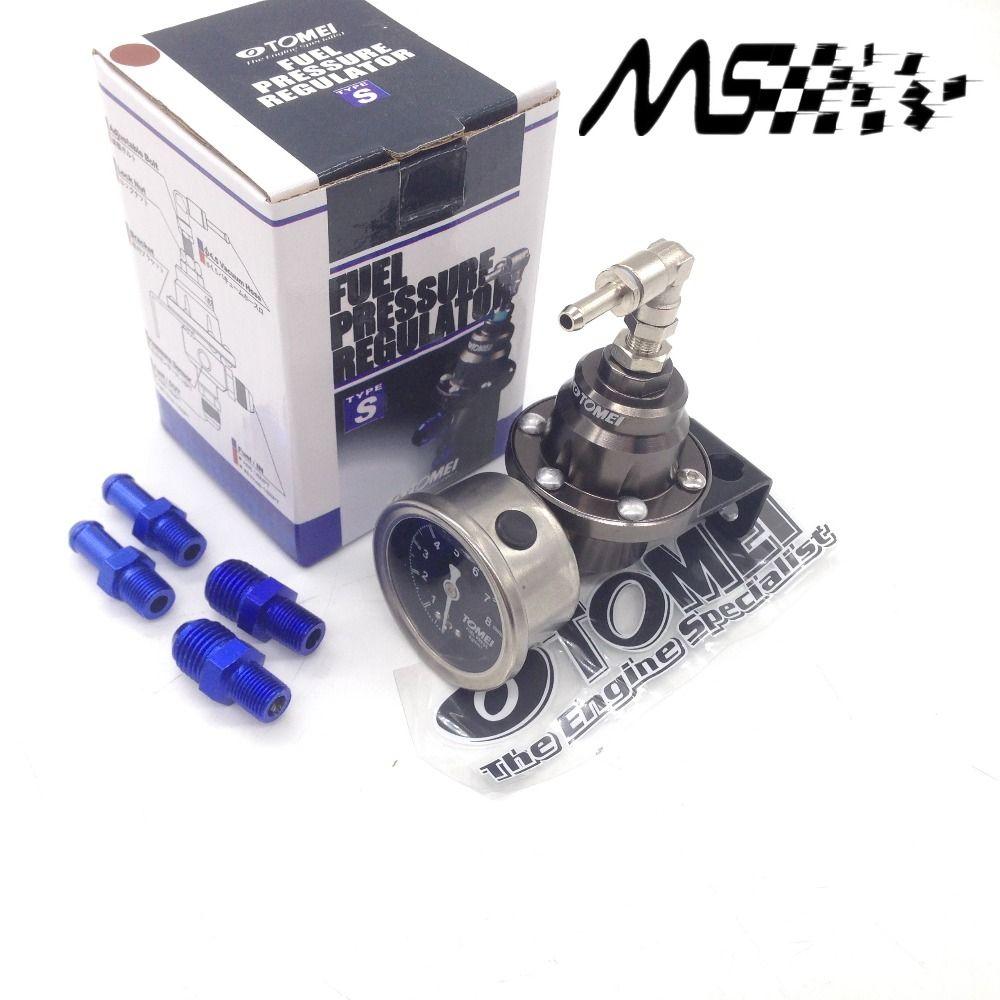 Universal Réglable Tomei Carburant Régulateur de Pression Avec manomètre et instructions (rouge/bleu/or/argent/noir /titane)