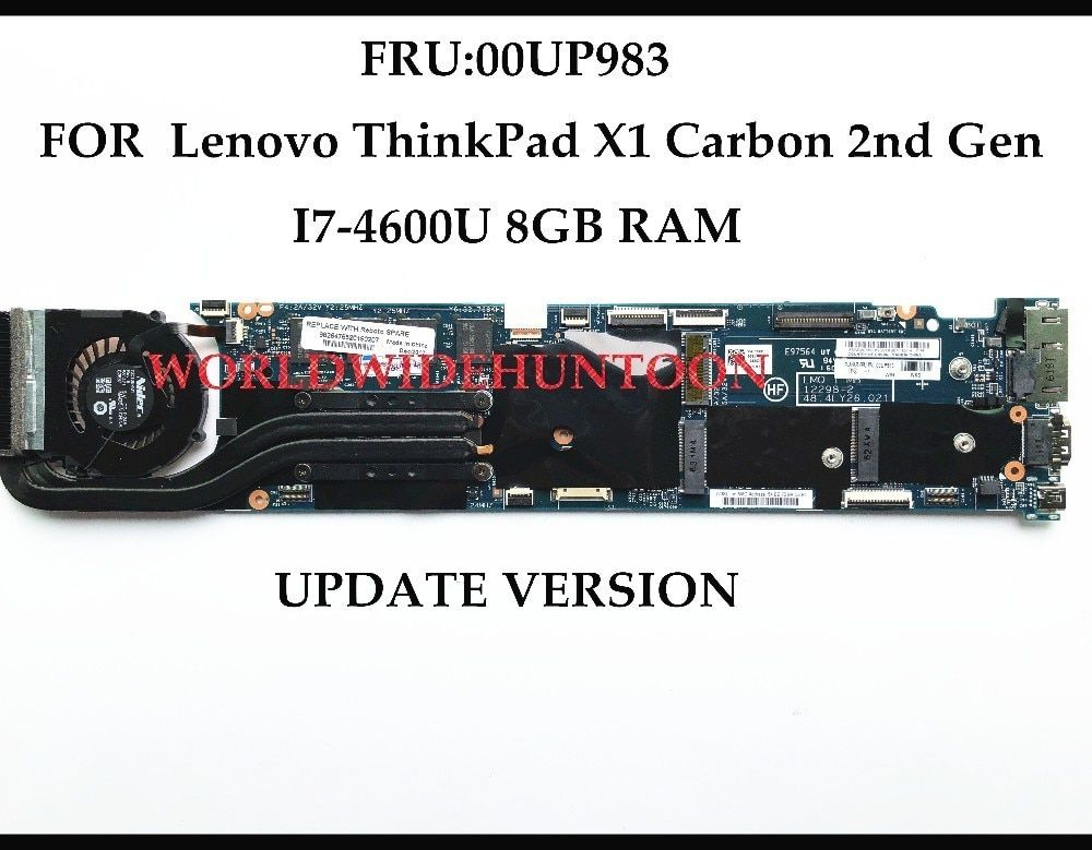 High quality FOR Lenovo Thinkpad X1 Carbon Laptop Motherboard FRU:00UP983 Upgrade Version 48.4LY26.021 I7-4600U 8GB 100% Tested