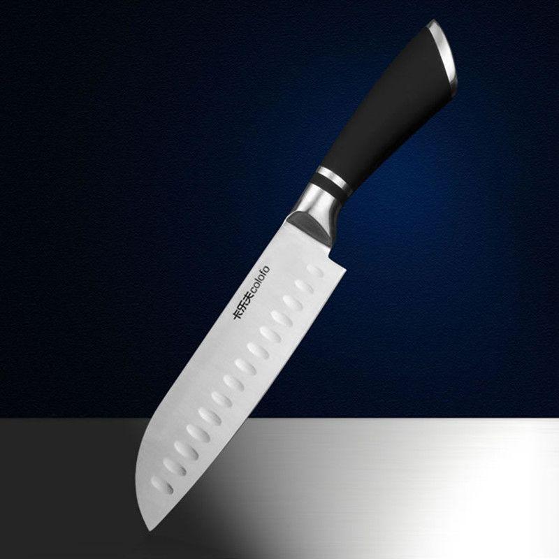 Livraison gratuite MIKALA cuisine acier inoxydable Style japonais Chef couteau Santoku couteau de coupe viande fruits légumes couteaux couperet